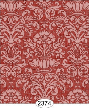 MINIATURE DOLLHOUSE WALLPAPER 1:12 SCALE ANNABELLE DAMASK BLUE SERENITY-2326