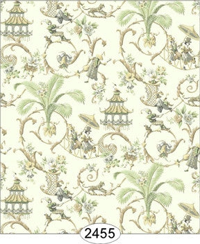 Wallpaper - Cozy Cottage Chinoiserie - Cream