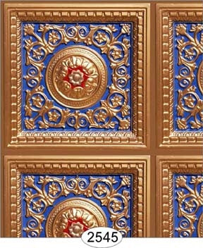 Rosette Panel Paper Copper Royal Blue Red