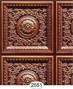 Rosette Panel Paper Antique Copper