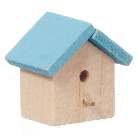 Bird House, Small, Blue Roof