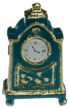 Mantle/Table Clock, Blue and Gold