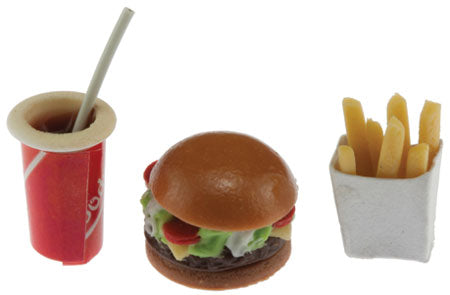 Hamburger, Fries, Cola Drink