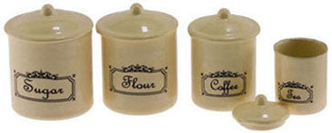 Canister Set, Four Piece, Ivory