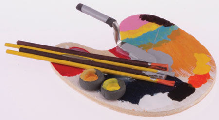 Artist Palette Set with Paint Brushes
