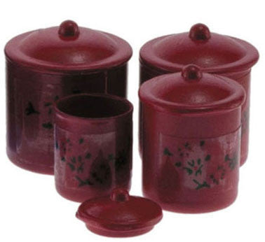 Canister Set, Red
