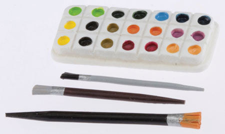 Paint Palette with paint brushes