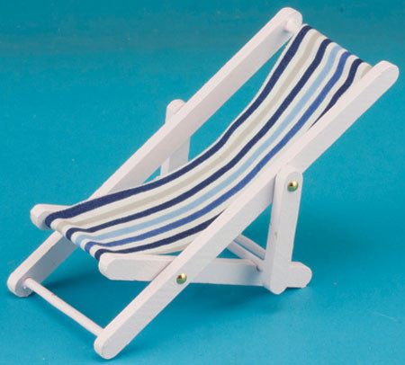 Beach Chair, White with Stripes
