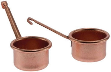 Copper Pots, 2pc