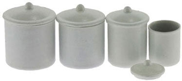 Canister Set, White, Four Piece
