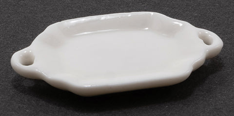 White Serving Platter with Handles