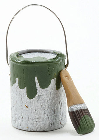 Paint Can and Brush, Green