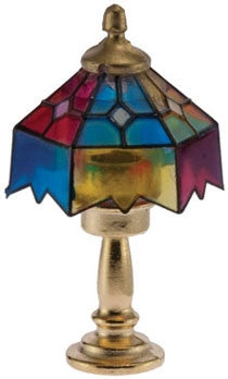 Table Lamp, Tiffany Style, Multi Color