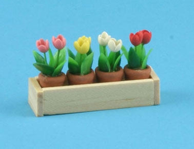 Window Box with Flower Pots OUT OF STOCK