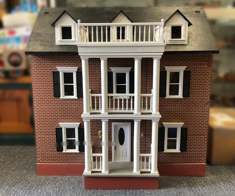 Second-Hand Brick Colonial Dollhouse