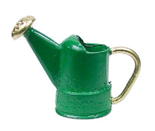 Watering Can, Green and Brass