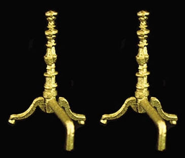 Andirons, Brass by Island Crafts
