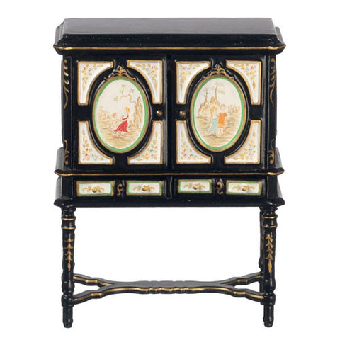 Black Oriental Treasure Cabinet ON SPECIAL