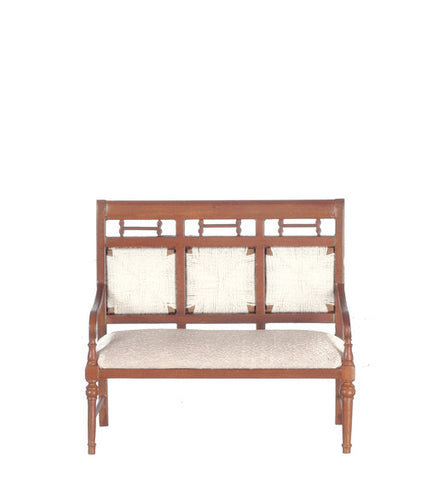 Spanish Settee with Rush Back