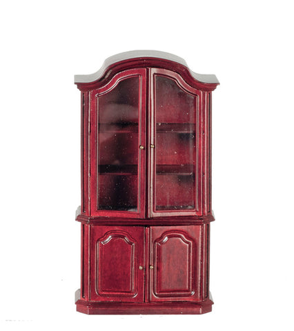 Display Cabinet, Mahogany Finish ON SPECIAL