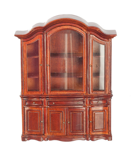 Showcase with Walnut Finish