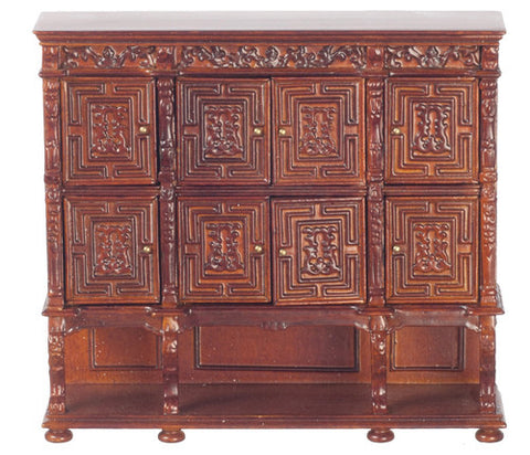 Carved Panel Chest, Walnut Finish ON SPECIAL