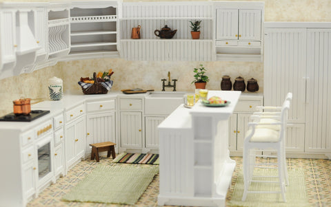 Kitchen Set, White, 14 Piece Set