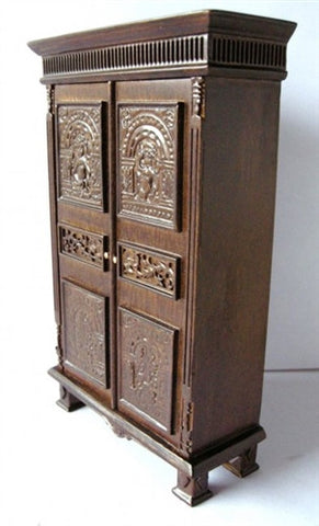 Tudor Style Wardrobe, Walnut Finish, by JBM