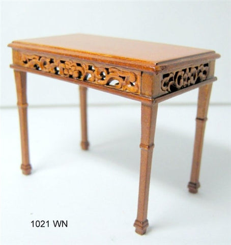 Console Table with Carved Apron