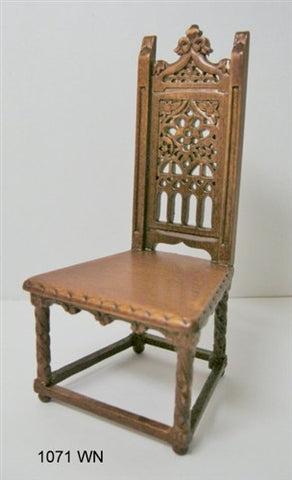 Gothic Side Chair, Walnut Finish