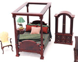 The Carolina Bedroom Set, Mahogany Finish