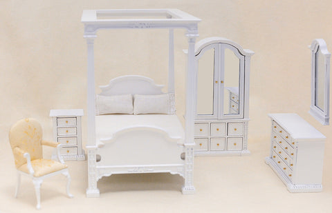 The Carolina Bedroom Set, White Finish