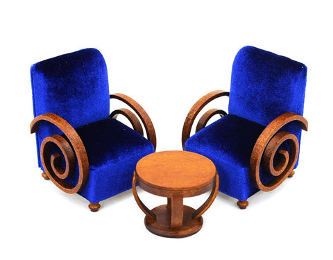 Art Deco Table and Chair Set