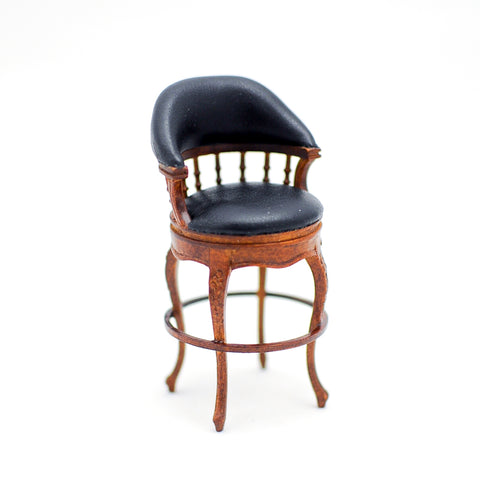 Bar Stool with Black Leather