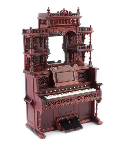 Victorian Parlor Organ, Circa 1880, Walnut Finish