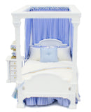 Carolina Bedroom Set, White with Blue Linens