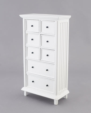 Tall Chest of Drawers, White, by JBM