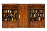 Wall Unit with Bookshelves and Door