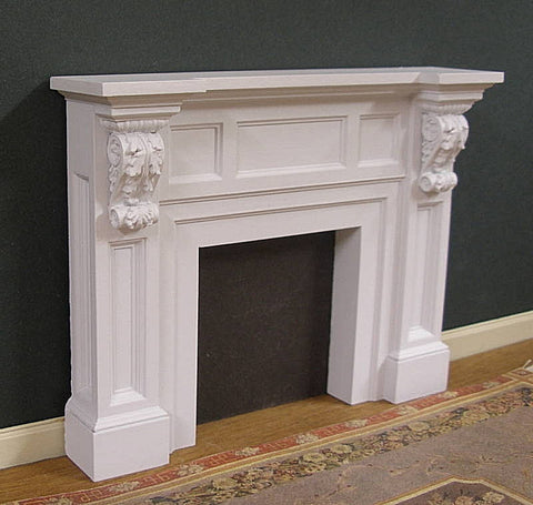 Jim Coates Fireplace with brackets