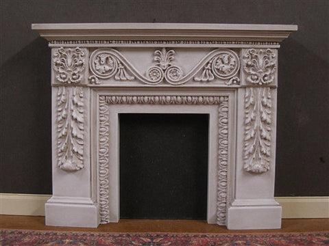 Fireplace with Fleur De Lis, Distressed