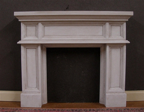Fireplace with Panel Design, Distressed