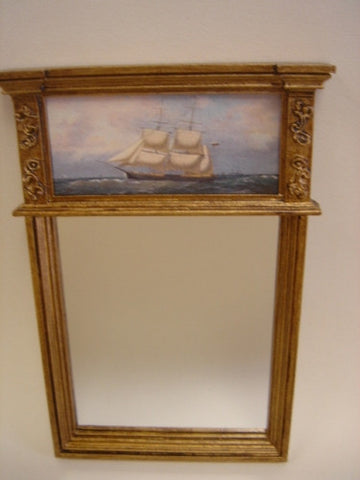 Mirror with Ship Print