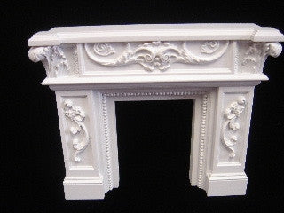 Fire Place with Scroll Design