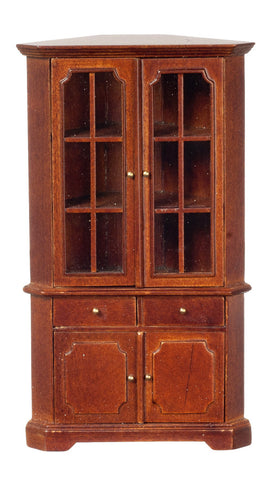 Corner Display Cabinet, Walnut