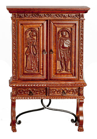 Sacristy Cupboard, Walnut Finish