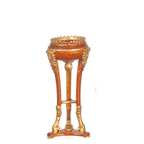 Louis XV Fern Stand, Walnut and Gold Finish