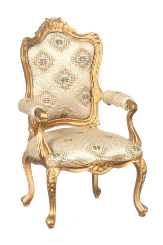 Louis XV Gilded Fauteuil Arm Chair