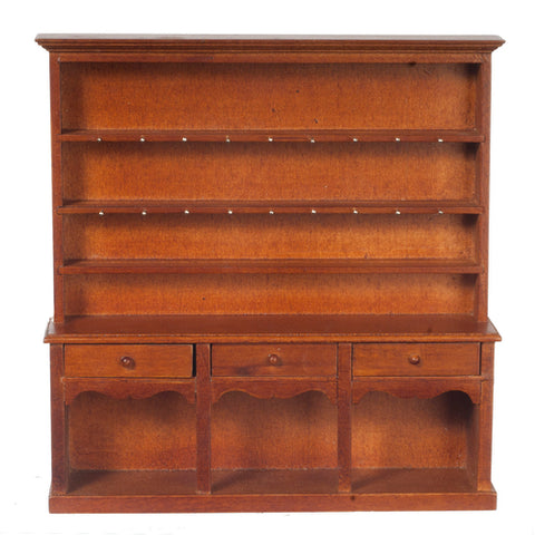 Large Welsh Dresser, Walnut Finish