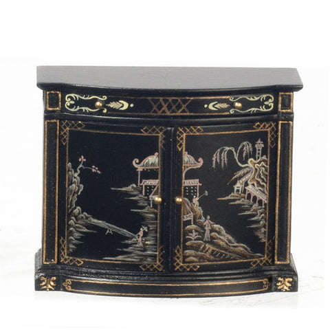 18th Century Chinese Credenza, Small, Black