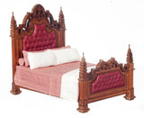 19th Century Gothic Panel Bed